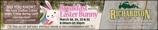 Brakfast easter Bunny