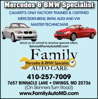 Mercedes Bmw Specialist Family Auto Care