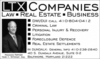 Law, Real Estate, Business