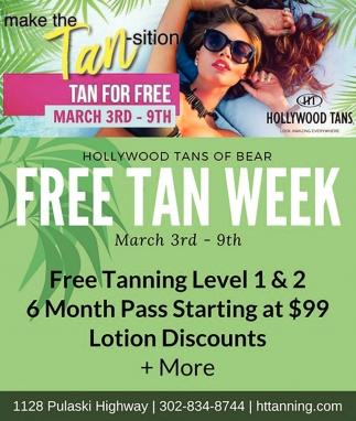 Free Tan Week