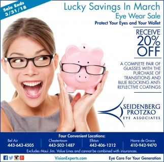 Lucky Savings in March Eye Wear Sale
