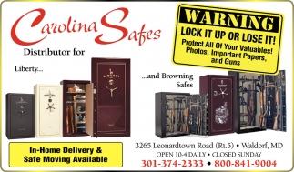 Ads For Carolina Safes In Waldorf, MD