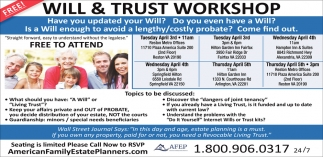 Will trust workshop american family estate planners solutioingenieria Image collections