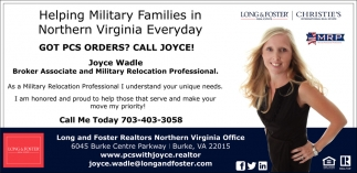 Helping Military Families, Long & Foster - Joyce Wadle