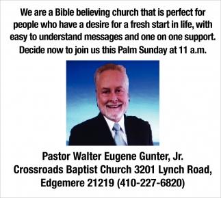 Pastor Walter Eugene Gunter Jr.