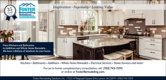 From Kitchen And Bathroom Foster Remodeling Solutions Inc - Bathroom remodeling solutions