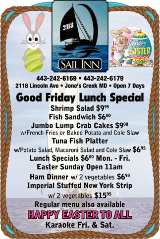 Good Friday Lunch Special