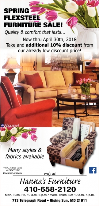 Hannas furniture home furnishing ads from cecil whig