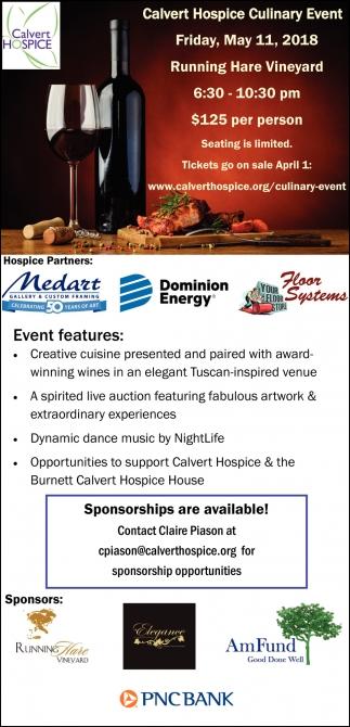 Calvert Hospice Culinary Event