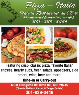 Italian Restaurant And Bar Pizza Italia