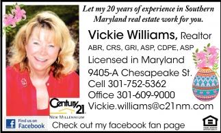 Vicke Williams, Realtor