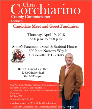 Candidate Meet And Greet Fundraiser Chris Corchiarino