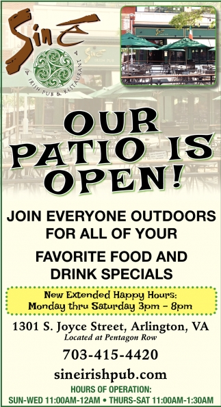 Our Patio is Open!