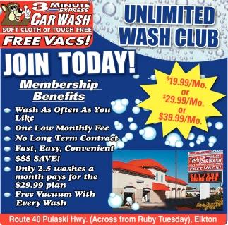 Unlimited wash club