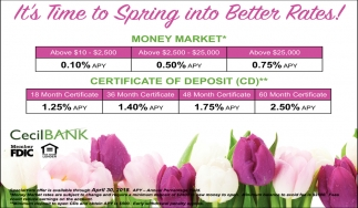 It\'s time to Spring into Better Rates!, Cecil Bank