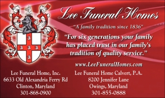 Funeral Homes In Clinton Md
