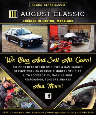 We buy and Sell All Cars, August Classic