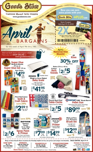 April Bargains