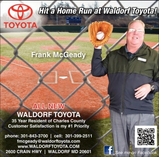 Hit a Home Run at Waldorf Toyota!