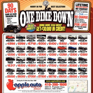 one dime down apple auto rh marketplace finditchesapeake com