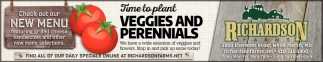Time to Plant Veggies and Perennials