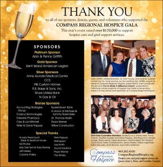 Thank You, Compass Regional Hospice, Centreville, MD