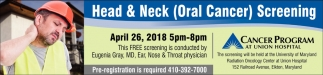 Head & Neck (Oral Cancer) Screening