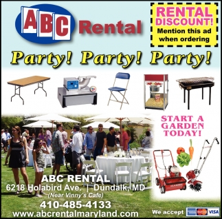 party party party abc rental maryland baltimore md