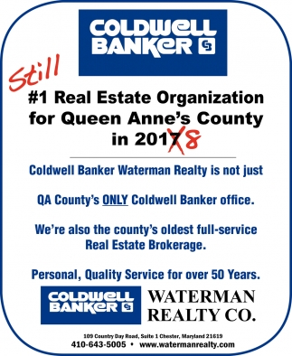 Still #1 Real Estate Organization for Queen Anne's County