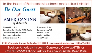 In the Heart of Bethesda Business and Cultural District
