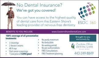 No Dental Insurance?