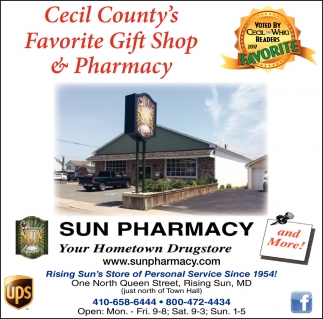 Cecil County's Favorite Gift Shop & Pharmacy