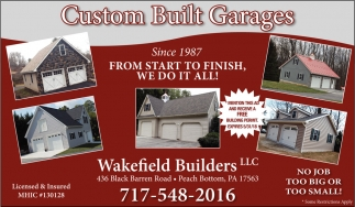 Custom Built Garages