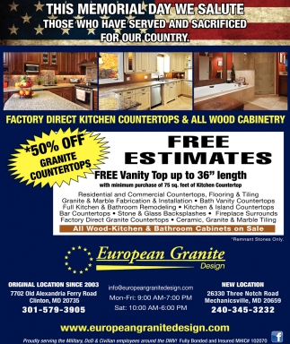 Factory Direct Kitchen Countertops All Wood Cabinetry European - Remnant kitchen cabinets