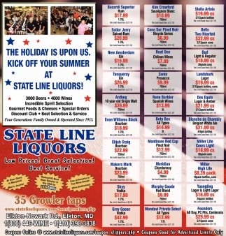 Kick off Your Summer at State Line Liquors