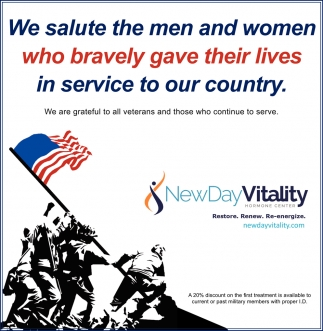 We Salute the Men and Women Who Bravely Gave Their Lives in Service to Our Country