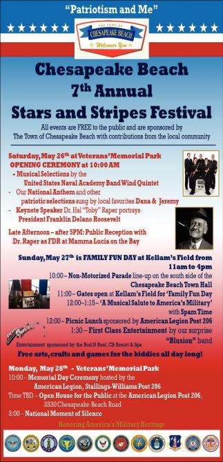 7th Annual Star And Stripes Festival Stars Town Of Chesapeake Beach