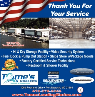 Thank You for Your Service, Tome's Landing Marina, Port