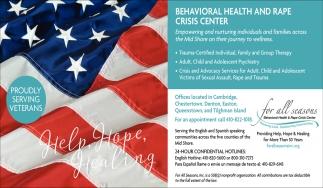 Behavioral Health and Rape Crisis Center