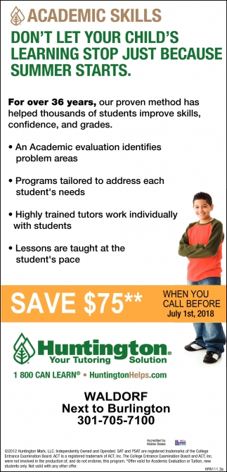 Academic Skills Don't Let Your Child's Learning Stopo Just Because Summer Starts
