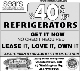 Up To 40% OFF Refrigerators