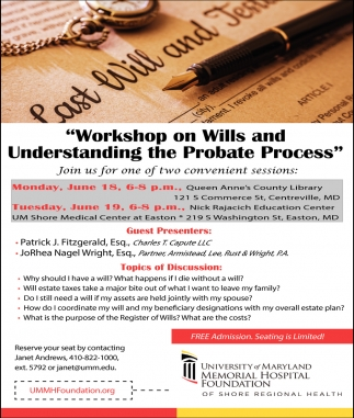 Workshop on Wills and Understanding the Probate Process
