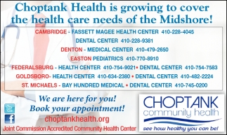 Choptank Health is Growing to Cover the Health Care Needs of th Midshore!