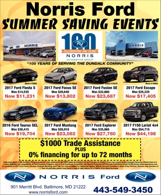 Norris Ford Summer Savings Event