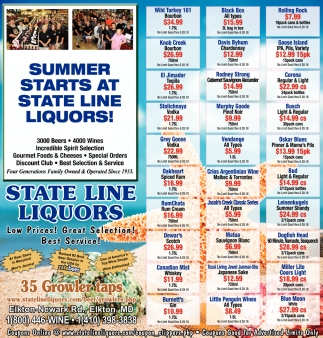 Summer Starts at State Line Liquors