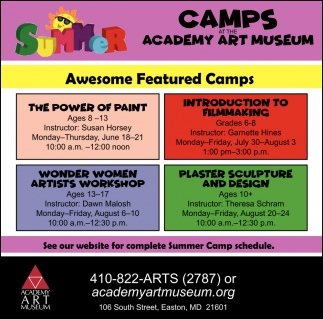 Camps at the Academy Art Museum