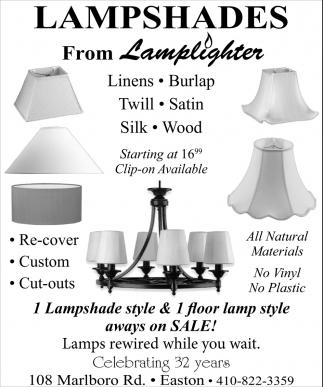 Lampshades from Lightlighter