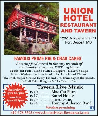Famous Prime Rib & Crab Cakes