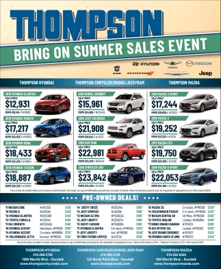 Bring on Summer Sales Event