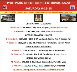 Hyde Park Open House